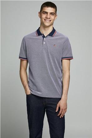 JACK & JONES ανδρική πικέ polo μπλούζα