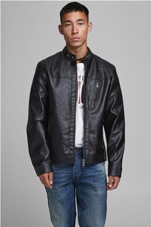 JACK & JONES ανδρικό faux leather biker jacket