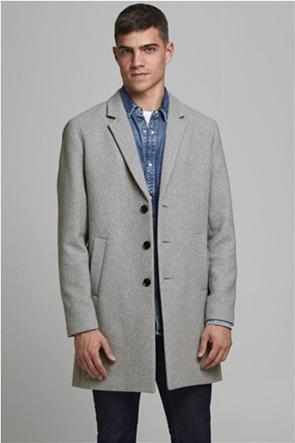 JACK & JONES ανδρικό midi μάλλινο παλτό