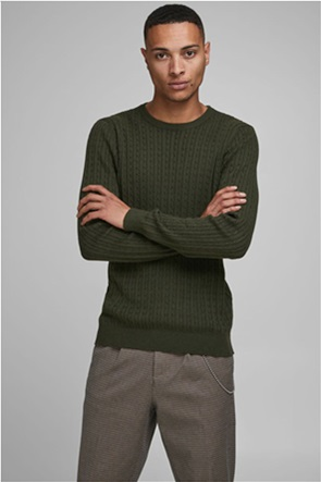 JACK & JONES ανδρικό πουλόβερ με ριγέ σχέδιο στην πλέξη