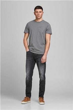 JACK & JONES ανδρικό τζην παντελόνι πεντάτσεπο Slim/Straight Fit