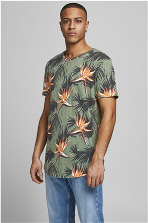 JACK & JONES ανδρικό T-shirt με floral print