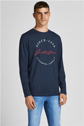 JACK & JONES ανδρική μπλούζα με logo print
