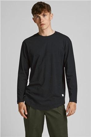 JACK & JONES ανδρική μπλούζα μονόχρωμη