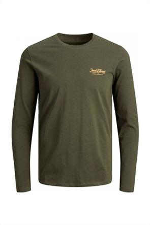 JACK & JONES ανδρική μπλούζα με λογότυπο στο στήθος Regural Fit