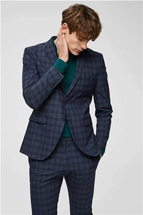 Selected ανδρικό σακάκι καρό με flap τσέπες Slim Fit