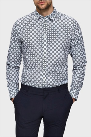 Selected ανδρικό πουκάμισο με floral print Slim Fit