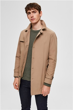 Selected ανδρικό παλτό μονόχρωμο