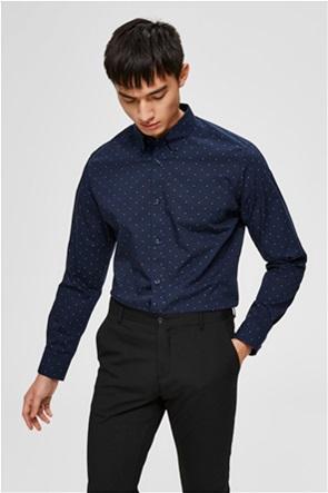Selected ανδρικό πουκάμισο με μικροσχέδιο Regular Fit