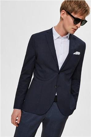 Selected ανδρικό σακάκι μονόχρωμο Slim fit