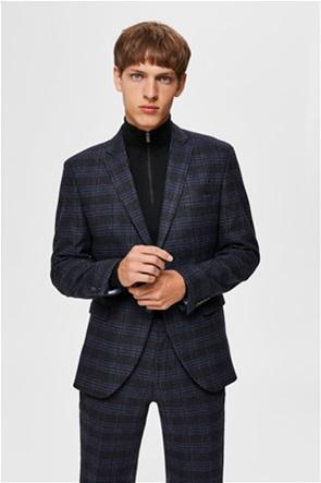 Selected ανδρικό σακάκι καρό slim fit