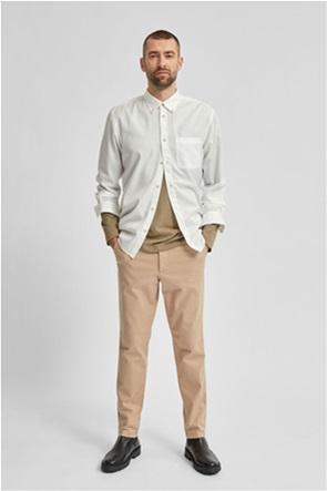 Selected ανδρικό chino παντελόνι μονόχρωμο Slim Fit