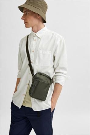 Selected ανδρικό πουκάμισο μονόχρωμο με απλικέ τσέπη στο στήθος