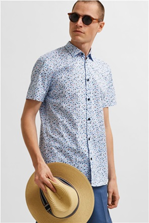 Selected ανδρικό πουκάμισο με all-over floral print Slim fit