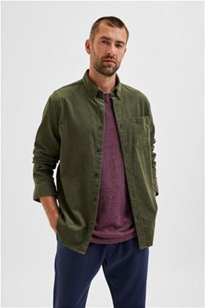 Selected ανδρικό πουκάμισο button-down με απλικέ τσέπη