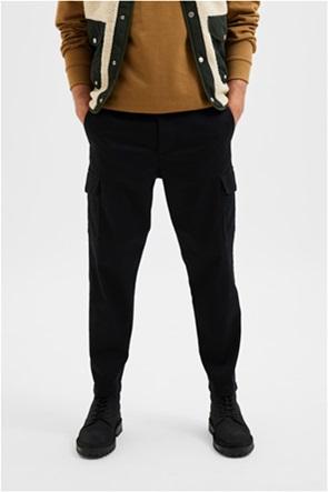 Selected ανδρικό παντελόνι μονόχρωμο Slim Tapered Fit