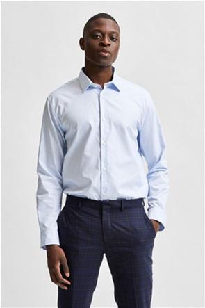 Selected ανδρικό πουκάμισο μονόχρωμο button-up