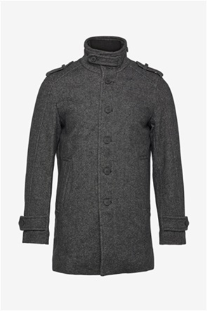 Selected ανδρικό παλτό με ψηλό λαιμό και κουμπιά