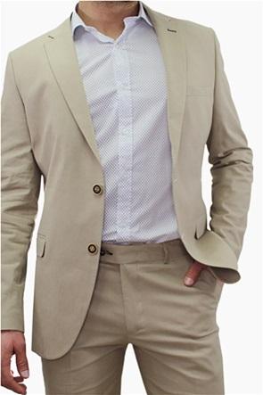 DORS ανδρικό σακάκι μονόχρωμο με flap τσέπες