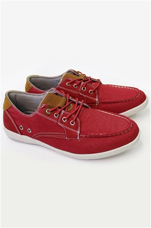 DORS ανδρικά boat shoes με suede λεπτομέρειες