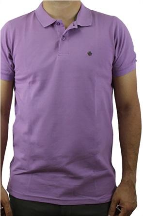 Dors ανδρική πόλο μπλούζα μονόχρωμη με κεντημένο λογότυπο