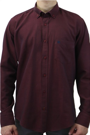 Dors ανδρικό πουκάμισο μονόχρωμο με κεντημένο λογότυπο