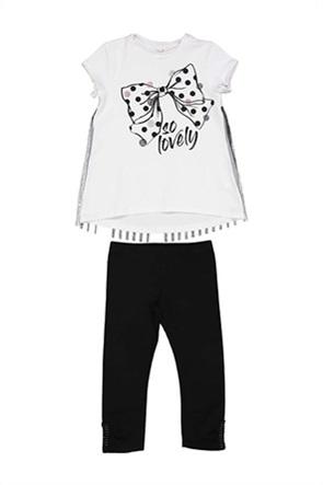 Grant TryBeyond παιδικό σετ μπλούζα με print και κολάν