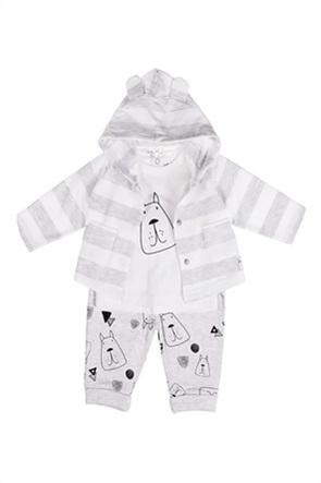 Grant Babybol βρεφικό σετ μπλούζα και παντελόνι με print και ζακέτα