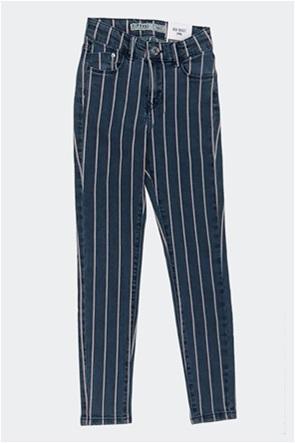 Grant Tiffosi παιδικό τζην παντελόνι με ριγέ σχέδιο