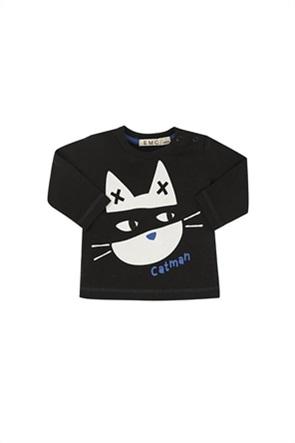 Grant EMC βρεφική μπλούζα φούτερ με cat print