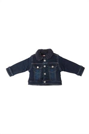 Grant Babybol βρεφικό denim jacket με faux γούνα