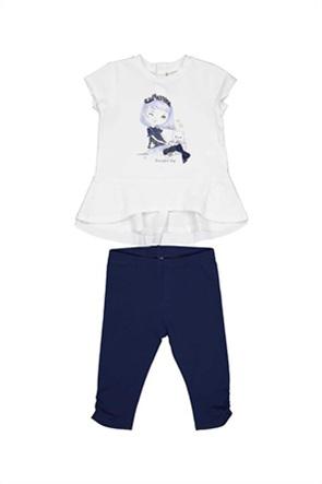 Grant Birba βρεφικό σετ μπλούζα με logo print και κολάν