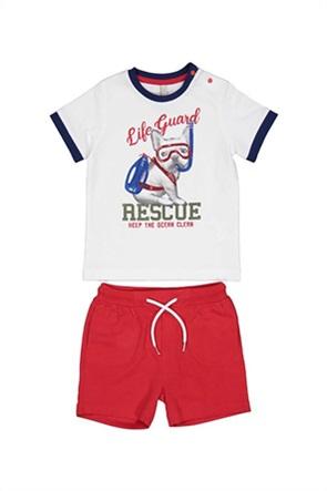 Grant Birba βρεφικό σετ μπλούζα με dog print και σορτς