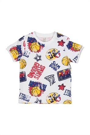 Grant Birba βρεφικό T-shirt με basketball print