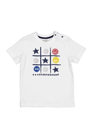 Grant Birba βρεφικό T-shirt με print τρίλιζα