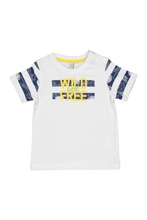 Grant Birba βρεφικό T-shirt με print colourblocked