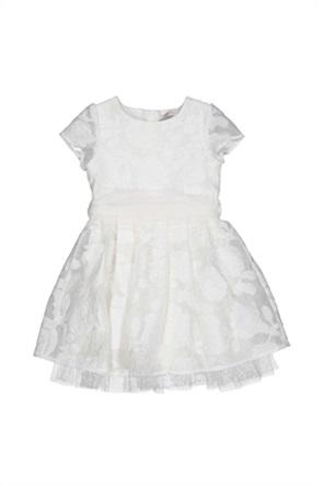 Grant TryBeyond παιδικό φόρεμα με floral κεντήματα και ζώνη στη μέση