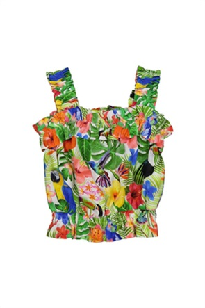 Grant TryBeyond παιδική μπλούζα με all-over tropical print