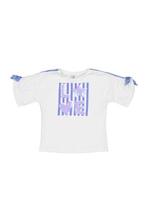 Grant TryBeyond παιδικό T-shirt με παγιέτες και απλικέ λεπτομέρειες