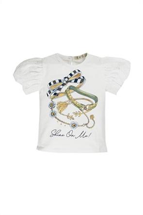 Grant EMC βρεφικό T-shirt με print και δαντέλα κιπούρ
