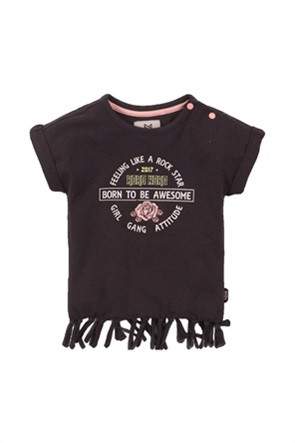 Grant Koko Noko παιδικό T-shirt με print και κρόσσια στο τελείωμα
