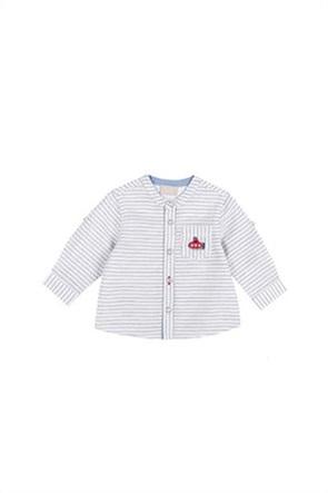 Grant Chicco παιδικό πουκάμισο με ριγέ σχέδιο και απλικέ τσέπη στο στήθος