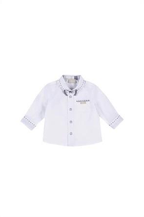Grant Chicco παιδικό πουκάμισο με απλικέ παπιγιόν