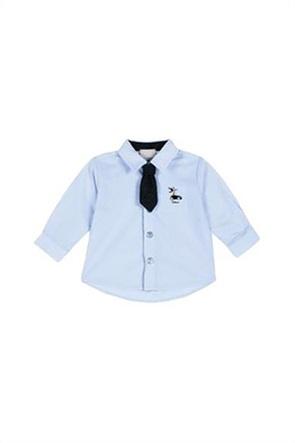 Grant Chicco παιδικό πουκάμισο με απλικέ γραβάτα