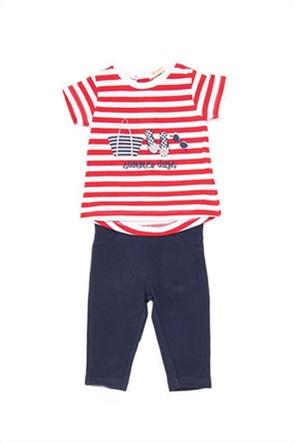 Grant Babybol βρεφικό σετ ρούχων με ριγέ T-shirt και κολάν (2 τεμάχια)