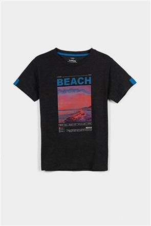 Grant Tiffosi παιδικό Τ-shirt με photo print και contrast λεπτομέρειες