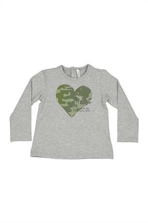 Grant Birba βρεφική μπλούζα με camo heart print