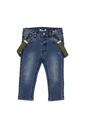 Grant Birba βρεφικό τζην παντελόνι με τιράντες