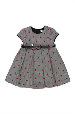 Grant Birba βρεφικό φόρεμα pied-de-poule με all-over heart print