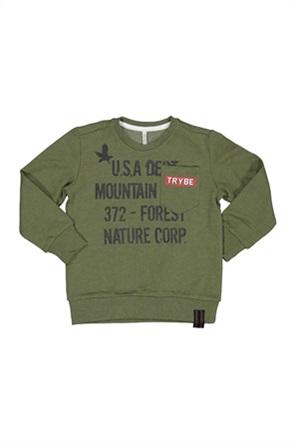 Grant TryBeyond παιδική μπλούζα φούτερ με lettering